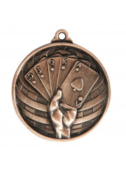 1073-54B Bronze Poker Medal 50mm