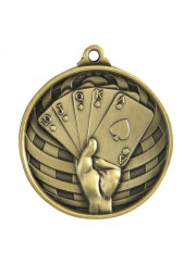 1073-54G Gold Poker Medal 50mm