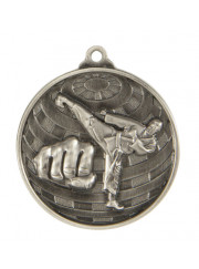 1073-11S Silver Martial Arts Medal 50mm