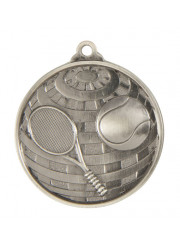 1073-12S Silver Tennis Medal 50mm