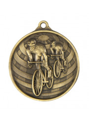 1073/14G Gold Cycling Medal 50mm
