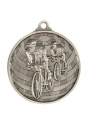 1073-14S Silver Cycling Medal 50mm