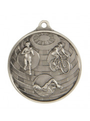 1073-15S Silver Triathlon Medal 50mm