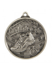 1073-18S Silver Cross Country Medal 50mm