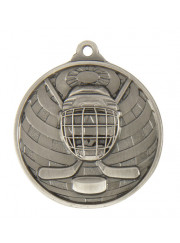 1073-25S Silver Ice Hockey Medal 50mm