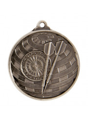 1073-26S Silver Darts Medal 50mm
