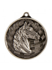 1073-29S Silver Horse Medal 50mm
