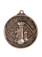 1073-43BR Bronze Chess Medal 50mm