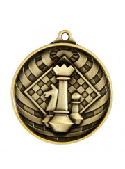 1073-43G Gold Chess Medal 50mm