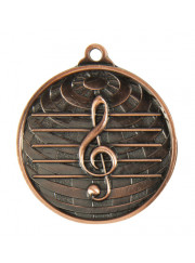 1073-44BR Bronze Music Medal 50mm