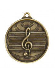 1073-44G Gold Music Medal 50mm