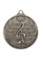 1073-44S Silver Music Medal 50mm