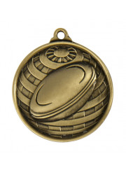1073-6G Gold Rugby Medal 50mm
