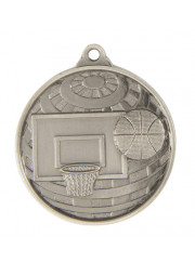 1073-7S Silver Basketball Medal 50mm