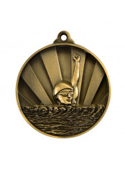 1076-2G Gold Swimming Medal 50mm