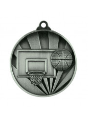1076-7S Silver Basketball Medal 50mm