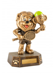 318-12 Lion Tennis Trophy 12.5cm