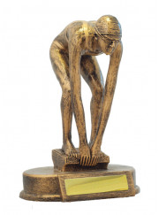 590-2F Female Swimming Trophy 12.5cm