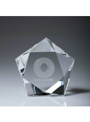 CC573L Crystal Star Paperweight 10cm