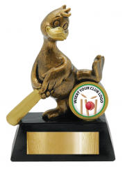 Golden Duck Cricket Trophy 13cm