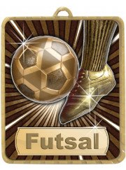 LM008G Gold Futsal Medal 75mm