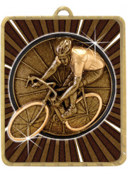 LM064G Gold Cycling Medal 75mm