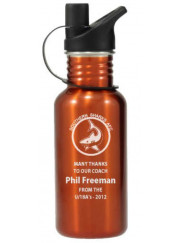 LWB015 Orange Water Bottle 500ml