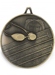 M9302 Gold Swimming Medal 62mm