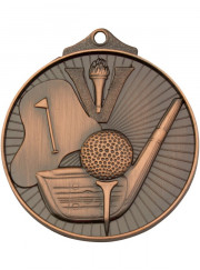 MD909B Bronze Golf Medal 52mm