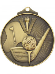 MD909G Gold Golf Medal 52mm