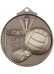MD911S Silver Netball Medal 52mm