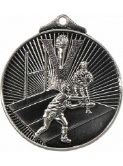 MD913S Silver Rugby Medal 52mm