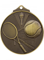 MD918G Gold Tennis Medal 52mm