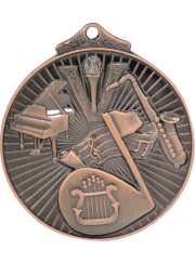 MD921B Bronze Music Medal 52mm