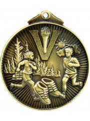 MD925G Gold Cross Country Medal 52mm