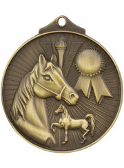 MD935G Gold Equestrian Medal 52mm