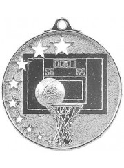 MH907S Silver Basketball Medal