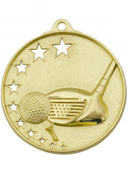 MH909G Gold Golf Medal 52mm