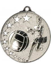 MH911S Silver Netball Medal 52mm