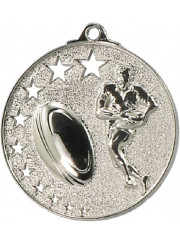 MH913S Silver Rugby Medal 52mm