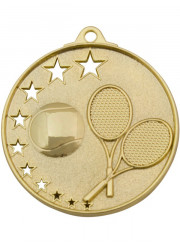MH918G Gold Tennis Medal 52mm