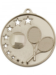 MH918S Silver Tennis Medal 52mm
