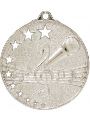 MH921S Silver Music Medal 52mm