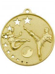 MH923G Gold Karate Medal 52mm