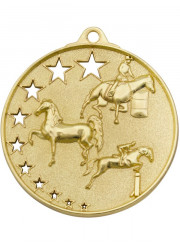 MH935G Gold Equestrian Medal 52mm