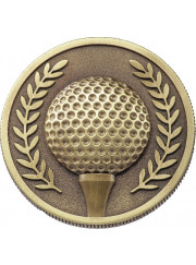 MJ17G Gold Golf Coin 60mm
