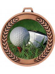 MJ50B Bronze Golf Medal 64mm
