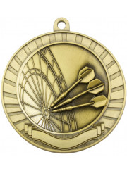 MMY238G Gold Darts Medal 70mm