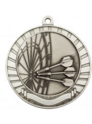MMY238S Silver Darts Medal 70mm