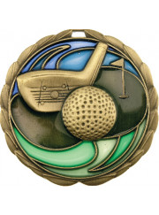 MS909G Gold Golf Medal 64mm